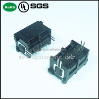 unshield rj12 6p6c connector with right angle