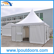 5x5m Luxury hotel portable aluminum pagoda marquee tent with a glass door