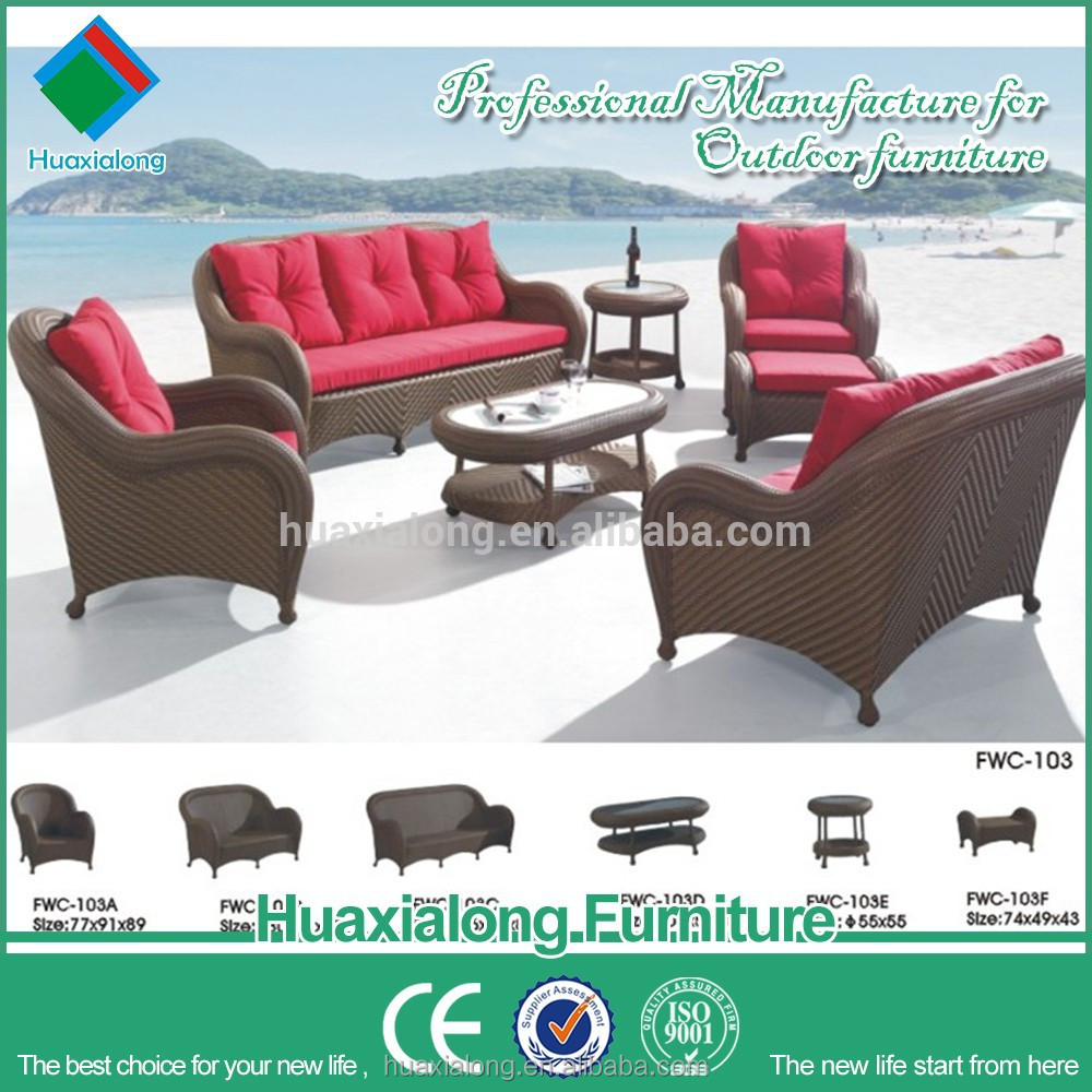 Fastional style and new design very besting selling outdoor garden rattan furniture sofa set speacial weaving item no FWC-103