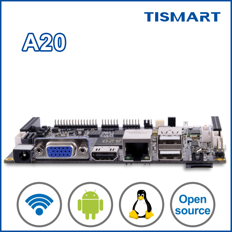 Alibaba wholesale A20 open source code android board with VGA LVDS USB for secondary development digital solution