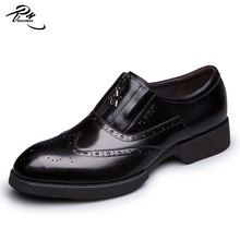 Elevator high heel brogue design britain style class brand name shoe, leather shoe, business shoe