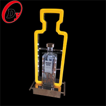 China factory custom design waterproof acrylic illuminated led bottle holder