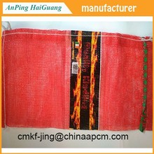 leno mesh bag for pcaking Vegetable ,PP and PE material mesh bag from factory