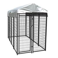 Factory used dog kennels or galvanized comfortable dog run fence 26 years welded technology