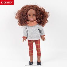 Wholesale Real Black Skin Vinyl Baby Girl Black Doll's Simulation Toys