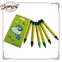 Customizable Mini Water Soluble Colored Wax Crayon Short Of 6 Packs For Kids, Wax Crayon Manufactures In China