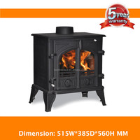 matt black Cast Iron mini electric fireplace china factory direct manufacturer solid fuel stove (CL-A20)