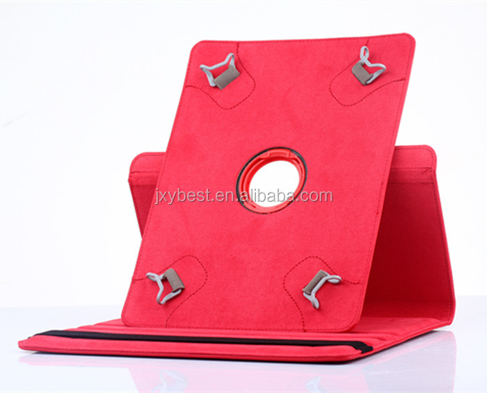 360 degree Rotating PU leather universal stand case Cover For ipad 2 3 4 5 6 for 9 inch and 10.1 inch tablet Pc