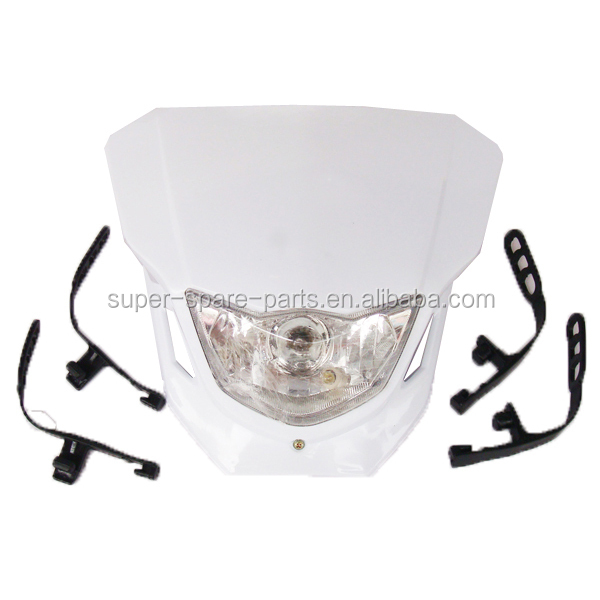 White Dirt Bike Motorcycle Universal Vision Headlight