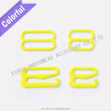Nylon coated bra ring and slide buckles0/8/9 shape for underwear swimwear accessories