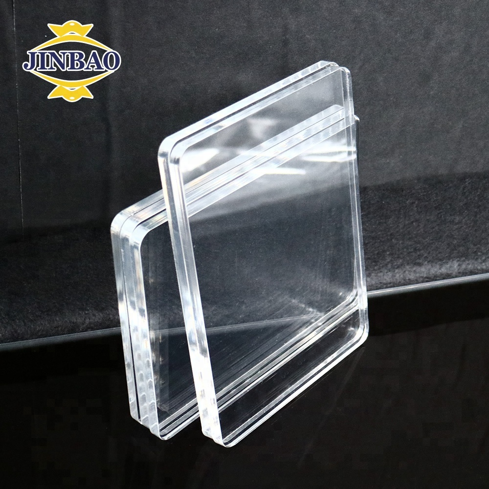 JINBAO 2.5mm clear <strong>Acrylic</strong> 4x8 ft size cut edge cast PMMA sheet
