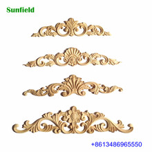 Exquisite CNC wood carving decoration appliques and onlays for sale