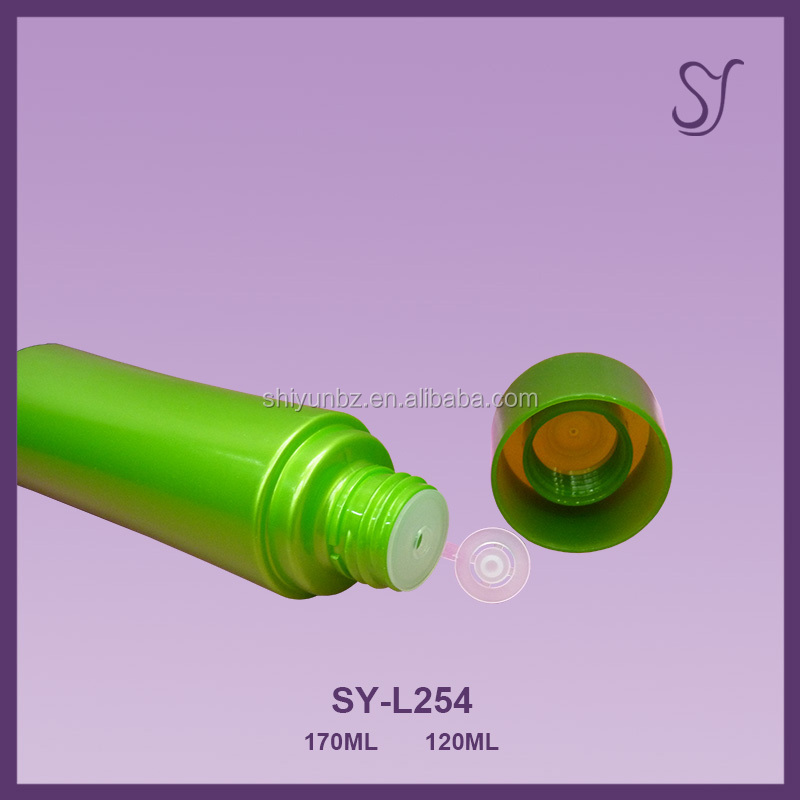 120ml 170ml cylinder shape Plastic skin care lotion/oil/liquid bottle L254