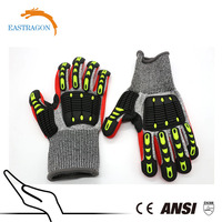 Top Quality TPR Impact Protective Mechanic Gloves for Oil and Gas Industries, Non-Slip Gloves / Safety Gloves/ Gloves Oil Field