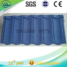 sun stone coated metal roof tile for new roofing material