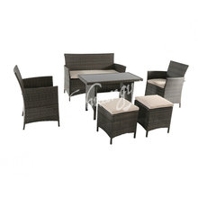 100% Full Test outdoor rattan wicker furniture set of restaurant rattan dining set