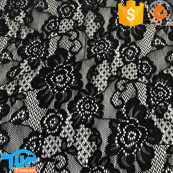 women dress fabric stretch lace fabric with spandex <strong>nylon</strong>