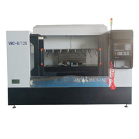 China advanced 3 axis 4 axis 5 axis mini metal CNC milling machine for machining foundry pieces metal castings
