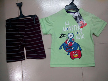 MINT WITH NAVY HALF PANT AND HALF SLEEVE TOP FOR KIDS