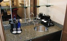 prefab kitchen countertops, kitchen top with cabinet for hotel project