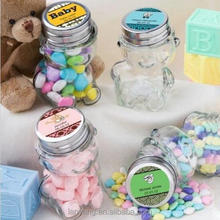 Personalized Glass Teddy Bear Treat Jars India Baby Shower Party Gift Favors