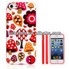Custom sweet girlish tpu rubber case for iphone 5s/iphone 5 IML printing Factory supply