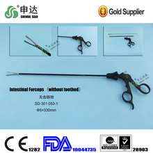 Toothless pliers Organ surgery appliances Surgical scissors With Plastic Handle Toothless intestinal clamp