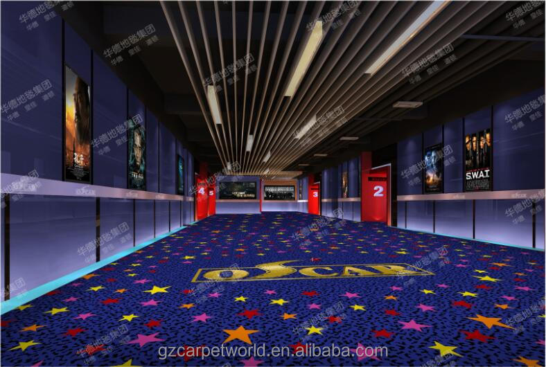 Customized 3D Carpet for Cinema Movie Theatre Used