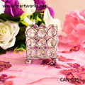 silver fashionable wedding candelabra, candle holders for wedding table centerpieces,crystal table centerpiece(CAN-015)