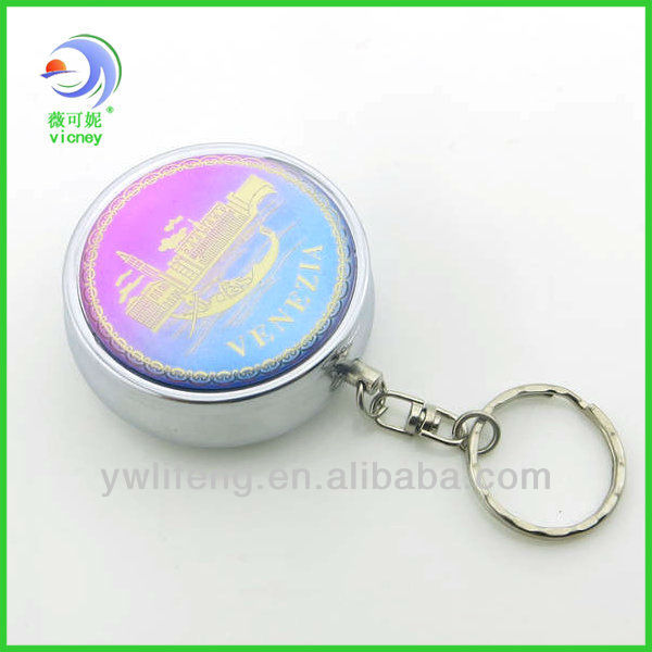 Factory Make High Quality Mini Epoxy Pill Box Keychain