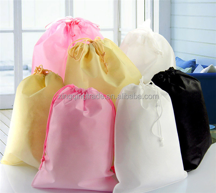 Non-Woven Fabric Travel Drawstring Wardrobe Handbag Clothing Storage Organizer bag