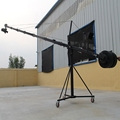 Professional jimmy jib video camera crane octagonal 12m(39ft) with pan tilt motorized head