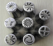 8pcs/set Big Russian Nozzles Piping Tips High Quality Hot Selling Stainless Steel Pastry Tips Cream Decorating Tools Cake Tulip