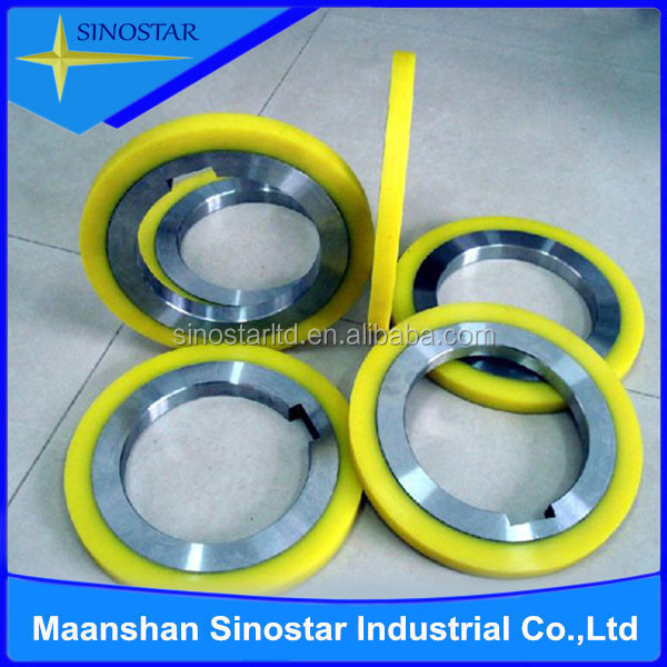 rubber slitter machine knives spacers