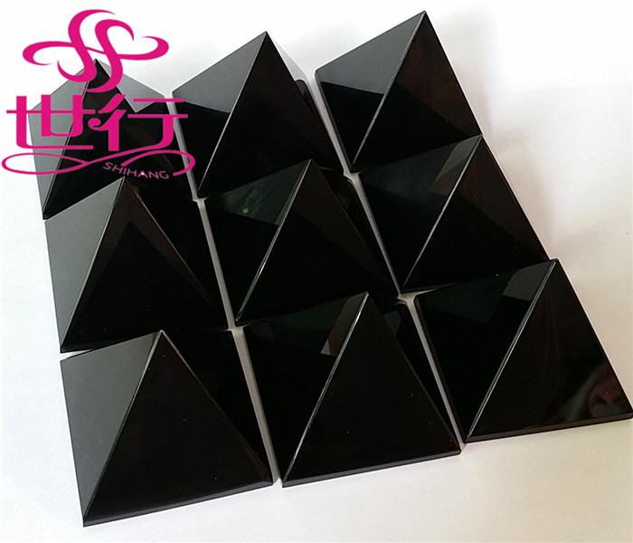 Natural black obsidian orgone pyramid wholesale