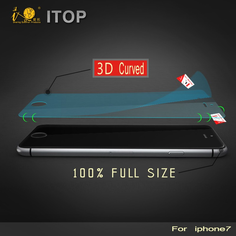 Itop Anti Explosion Anti-Glare 3D Mobile Phone Nano Soft Film Screen Protector for IPhone 7 / 7 plus