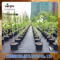 5 gallon black recycled HDPE plastic container for nursery plant