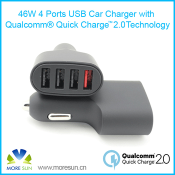 Qualcomm Certified Quick Charge 2.0 for 4 Ports USB Car Charger universal multi port USB Qiuck Charger