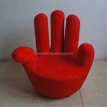 Single bend fingers design living room furniture single seat finger sofa