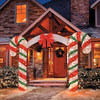 new design christmas Lighted inflatable Archway Candy Cane