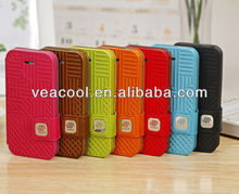 Stand Honeycomb Flip Wallet Leather Case Cover For Apple iphone 5 5G 5S