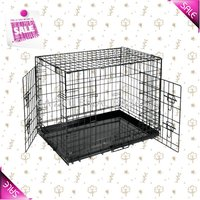 Strong Metal Folding Dog Cage, Iron Dog Crate 5 Sizes