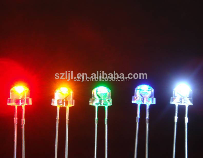 Water clear Straw Hat LED 4.8mm light emitting diode