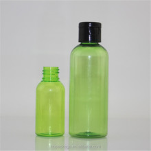 Wholesale 100ml green pet plastic bottle for cosmetic perfume use
