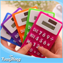 Amazon Hot solar silicone square mini pocket calculator