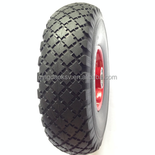 red cross 3.00-4 wheel barrow wheel pu wheel 300-4 wheelbarrow tyre