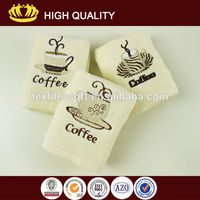 100% cotton soft plain velour embroidery kitchen tea towel