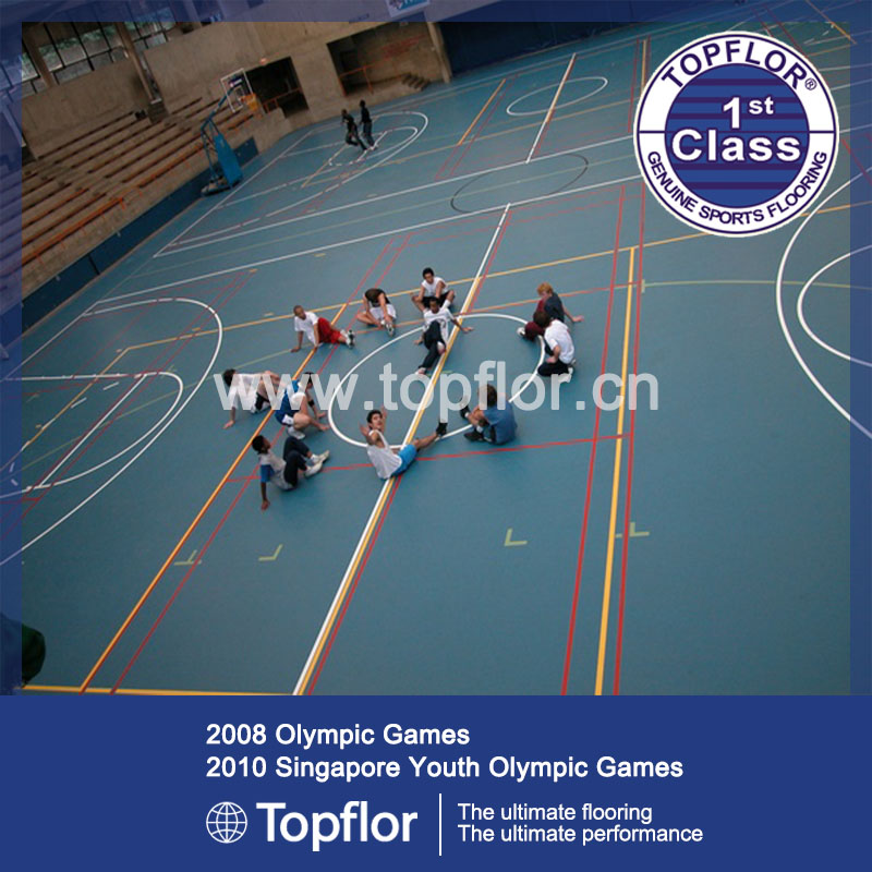 Indoor Sports Flooring/Synthetic Basketball Court Flooring