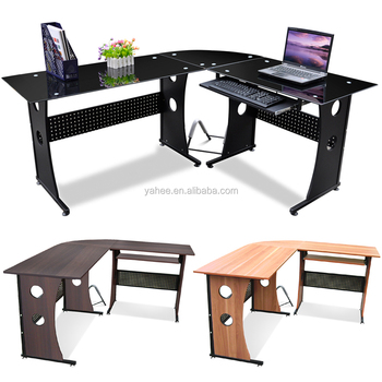Computer Corner Desk Home Office Study Furniture Corner PC Table MDF