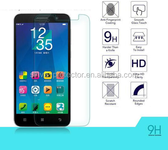 Screen covered tempered glass screen protector for alcatel idol2 mini/2.5D round edge tempered glass screen guard